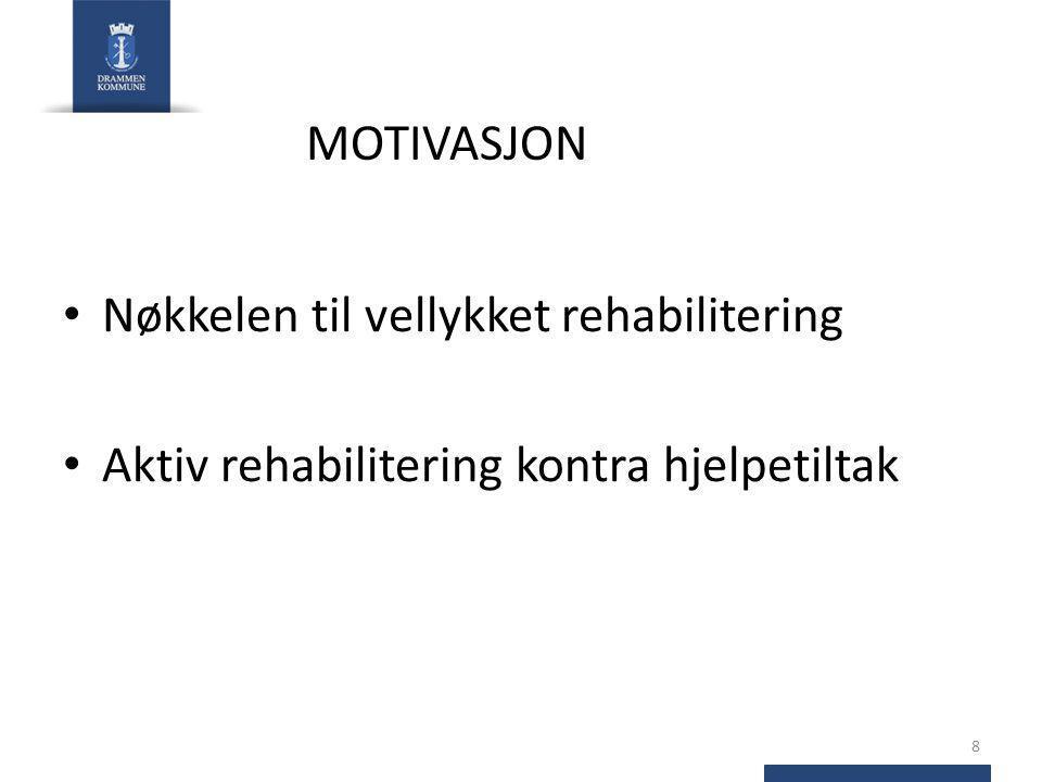 Nøkkelen til vellykket rehabilitering