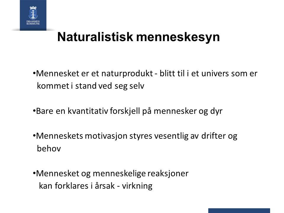 Naturalistisk menneskesyn