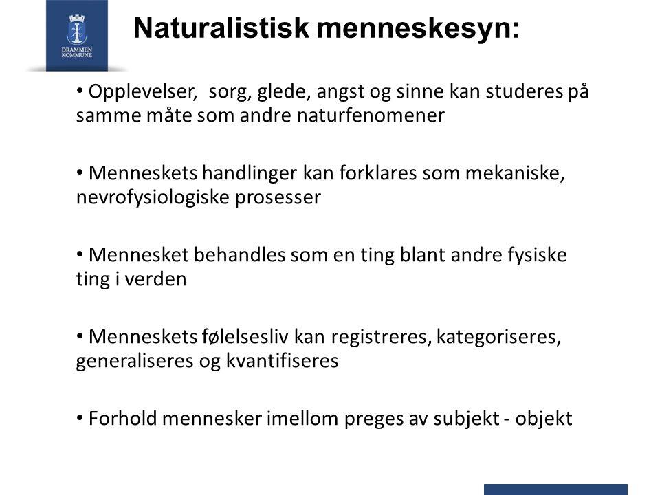 Naturalistisk menneskesyn: