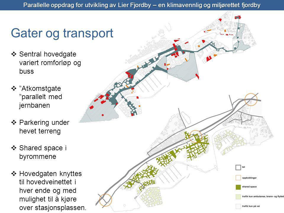 Gater og transport Sentral hovedgate variert romforløp og buss