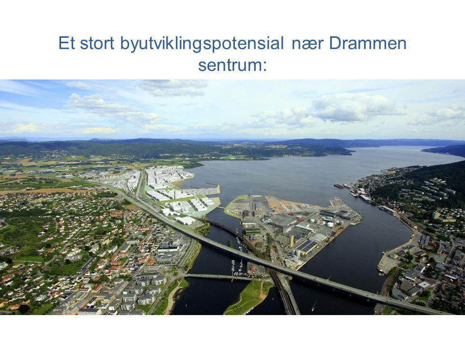 Et stort byutviklingspotensial nær Drammen sentrum:
