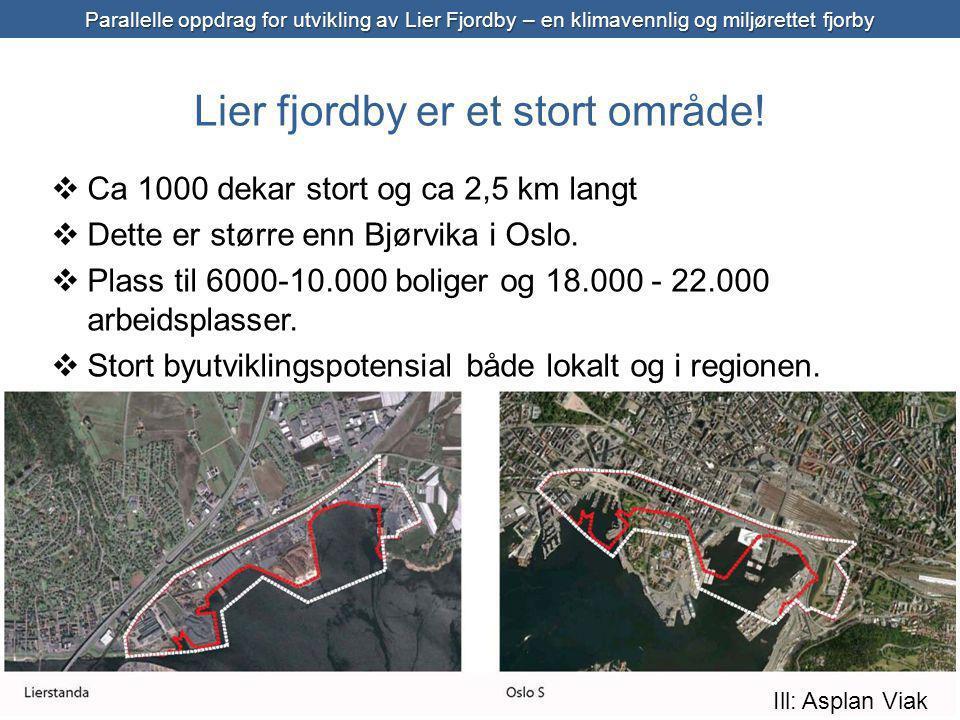 Lier fjordby er et stort område!