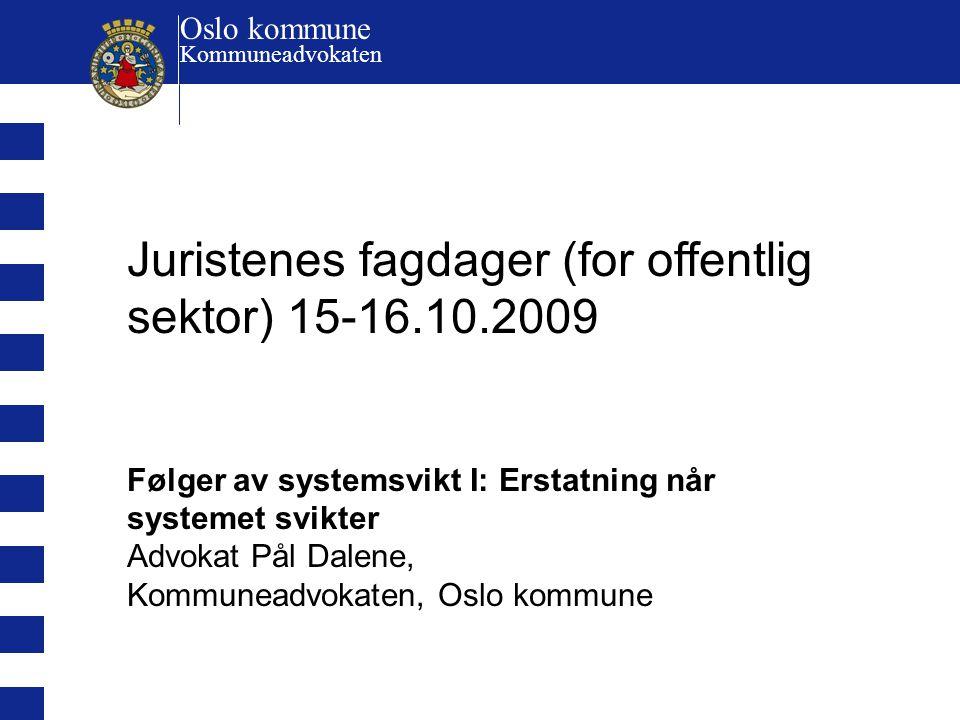 Juristenes fagdager (for offentlig sektor) 15-16.10.2009