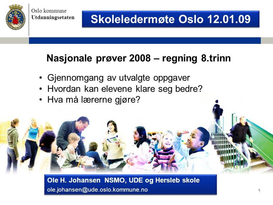 Nasjonale prøver 2008 – regning 8.trinn