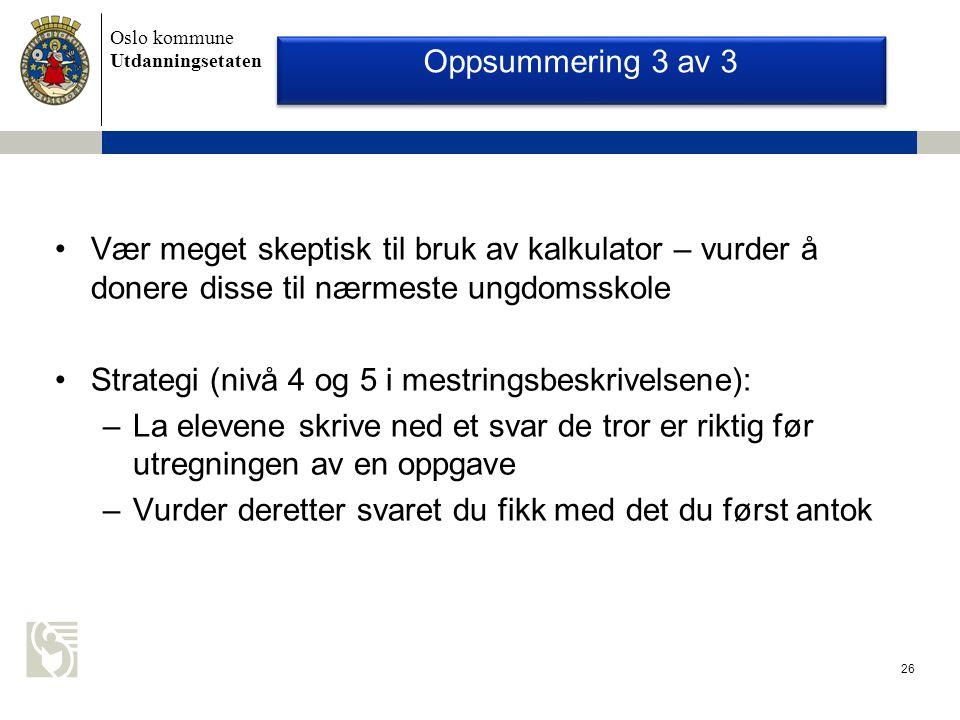 Strategi (nivå 4 og 5 i mestringsbeskrivelsene):