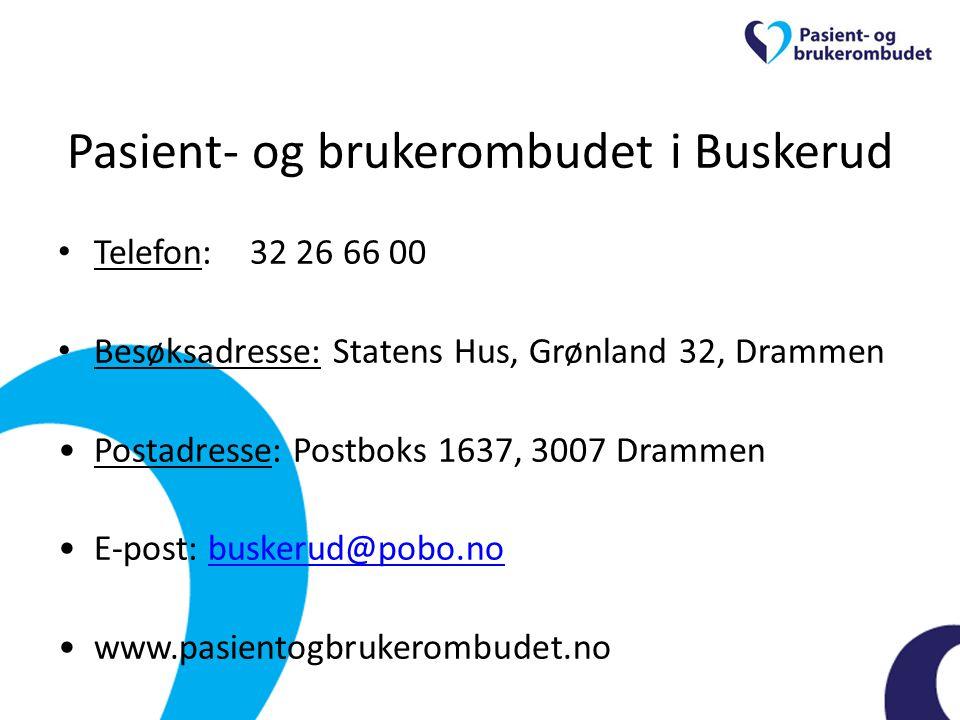 Pasient- og brukerombudet i Buskerud