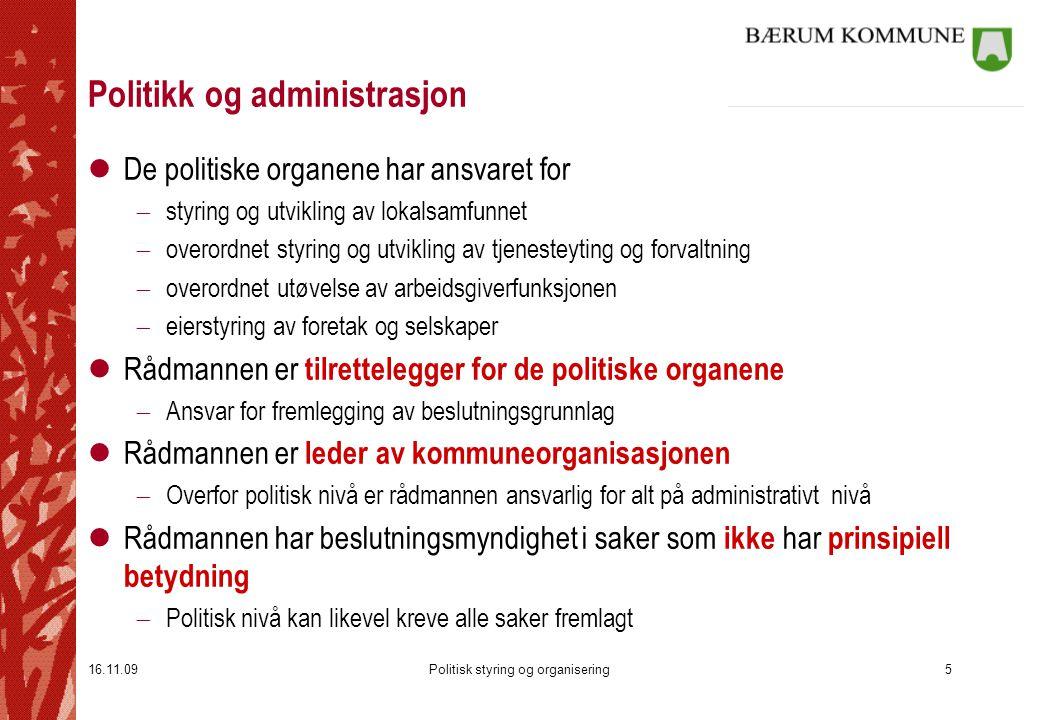 Politikk og administrasjon