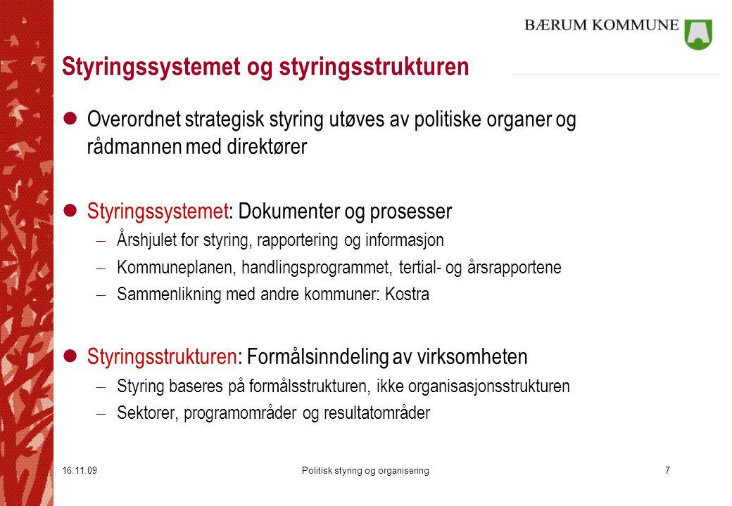 Styringssystemet og styringsstrukturen