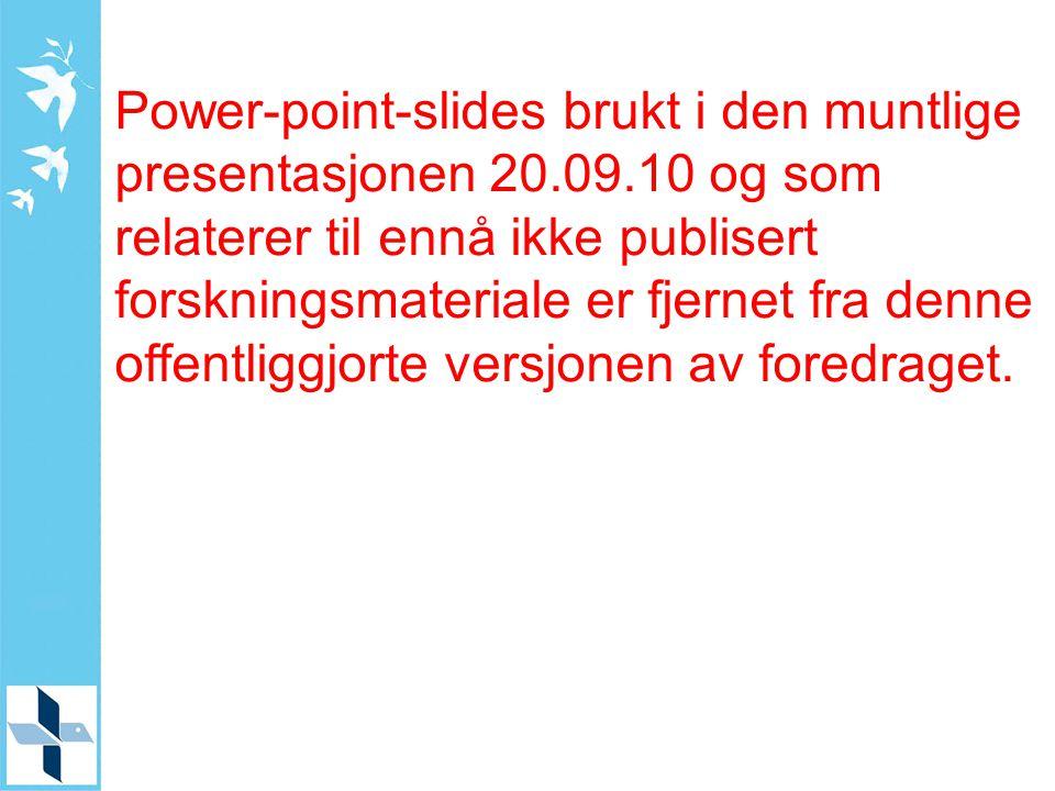 Power-point-slides brukt i den muntlige presentasjonen 20. 09