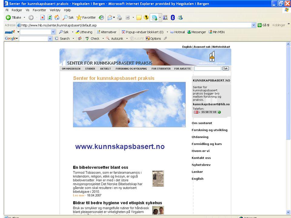 www.kunnskapsbasert.no
