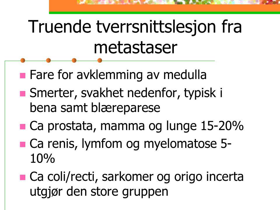 Truende tverrsnittslesjon fra metastaser