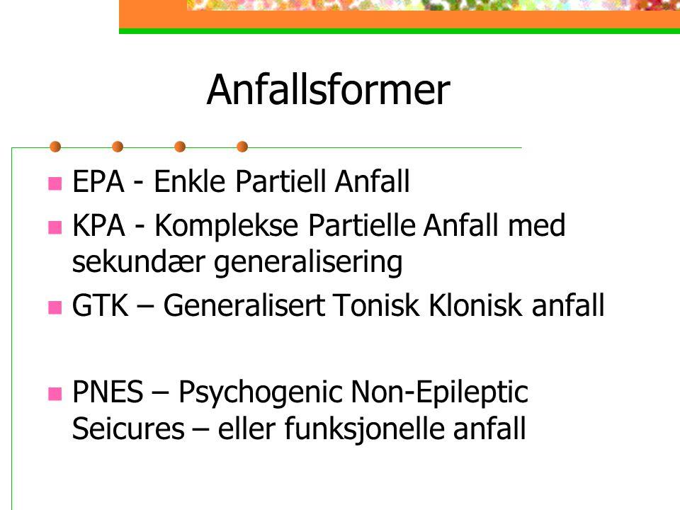 Anfallsformer EPA - Enkle Partiell Anfall