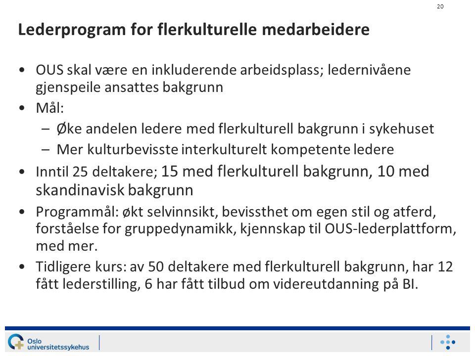 Lederprogram for flerkulturelle medarbeidere