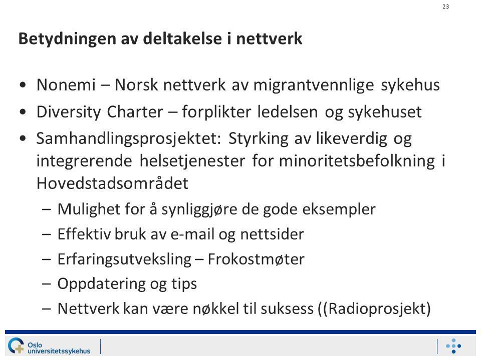 Betydningen av deltakelse i nettverk