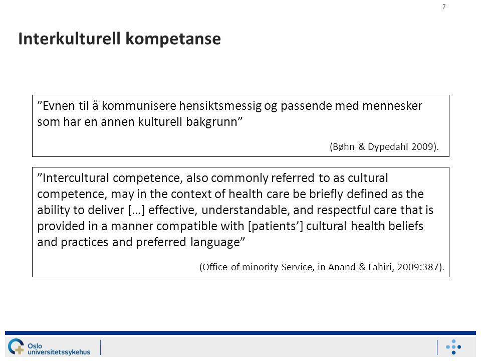 Interkulturell kompetanse