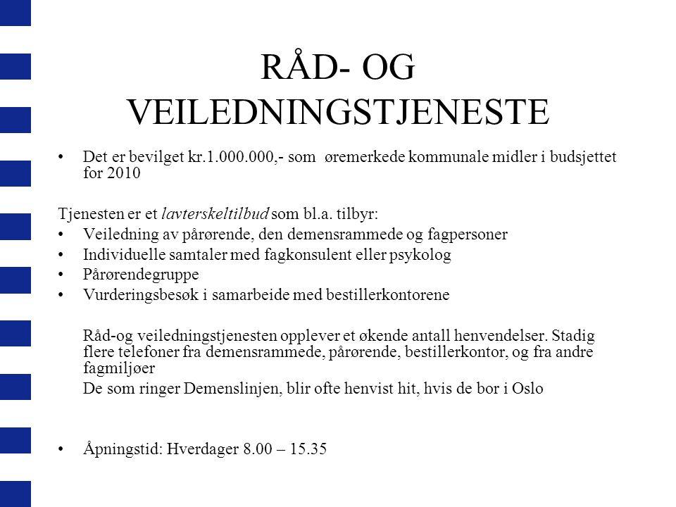 RÅD- OG VEILEDNINGSTJENESTE