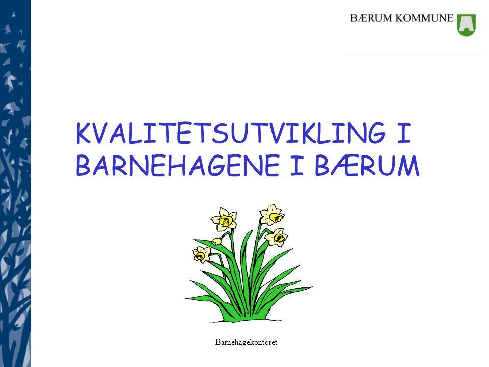 KVALITETSUTVIKLING I BARNEHAGENE I BÆRUM