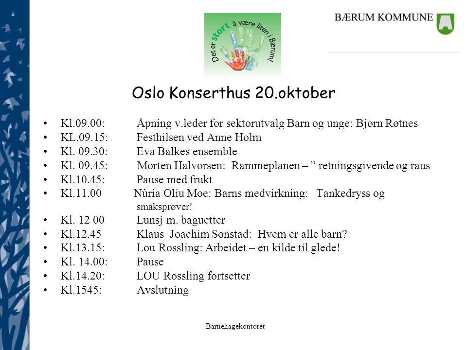 Oslo Konserthus 20.oktober