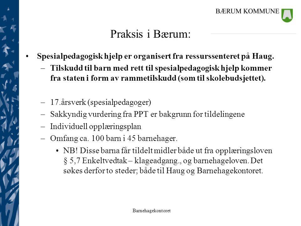 Praksis i Bærum: Spesialpedagogisk hjelp er organisert fra ressurssenteret på Haug.