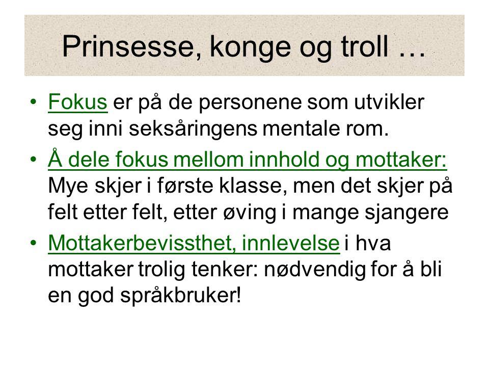 Prinsesse, konge og troll …