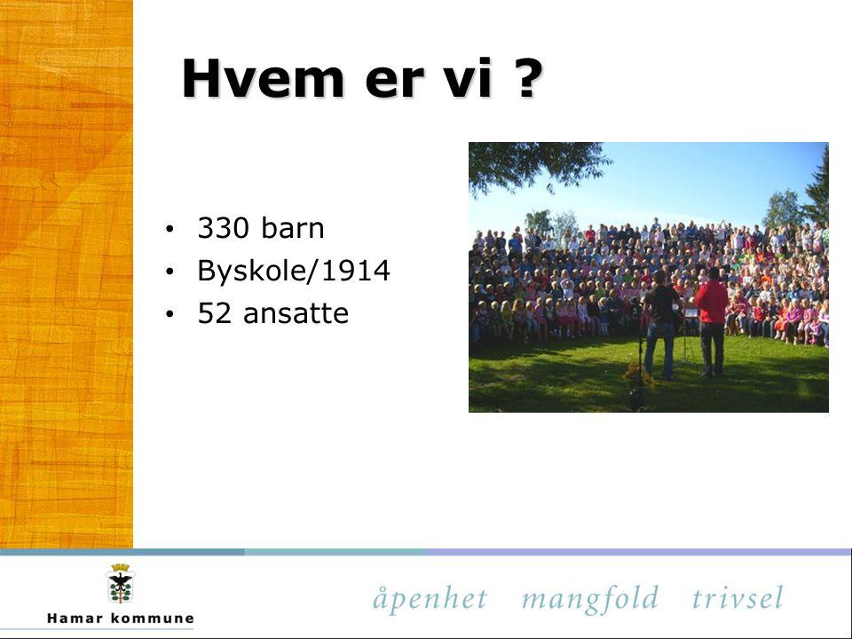 Hvem er vi 330 barn Byskole/1914 52 ansatte
