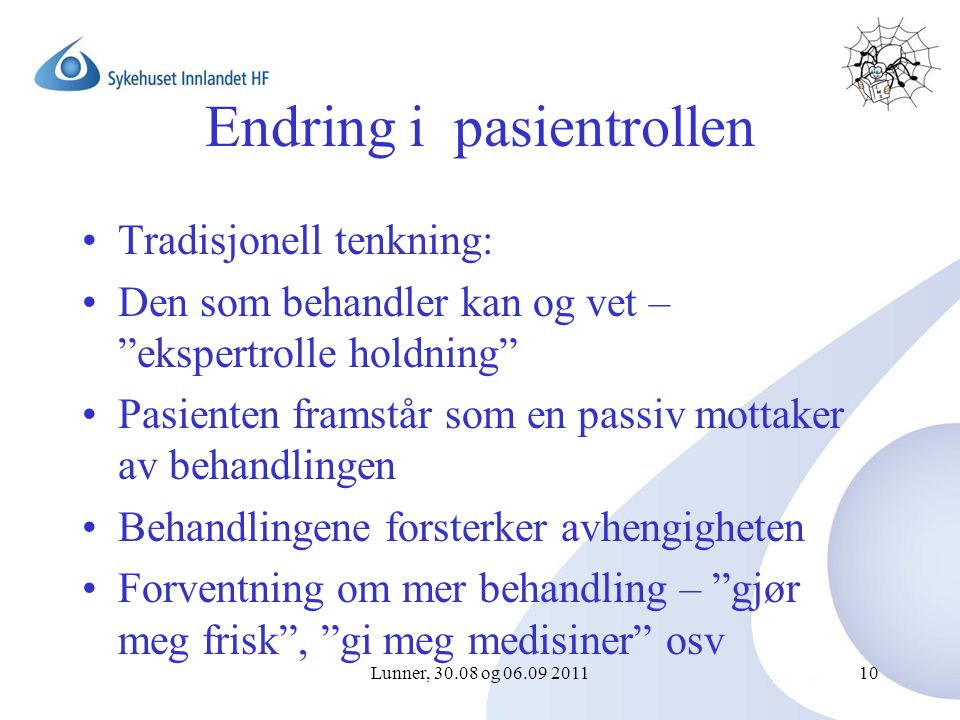 Endring i pasientrollen