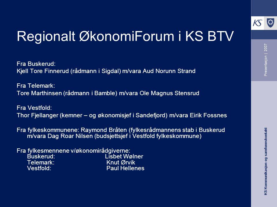 Regionalt ØkonomiForum i KS BTV