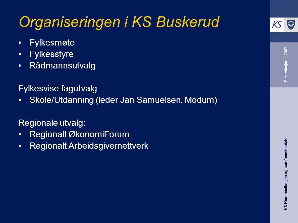 Organiseringen i KS Buskerud