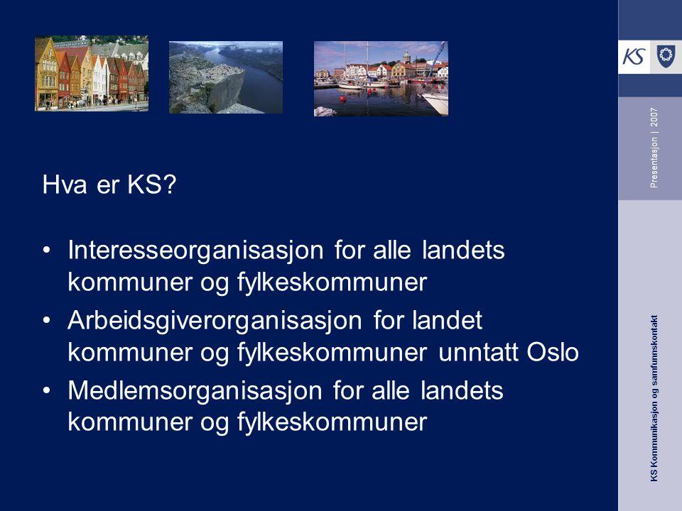 Interesseorganisasjon for alle landets kommuner og fylkeskommuner