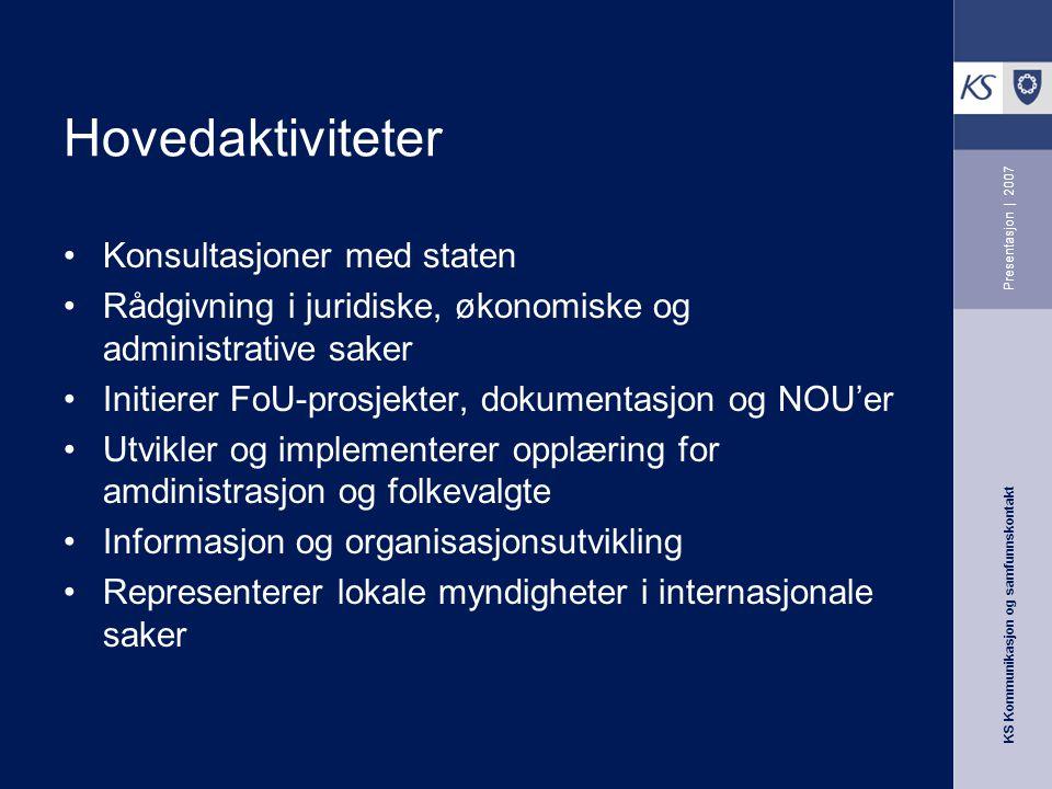 Hovedaktiviteter Konsultasjoner med staten
