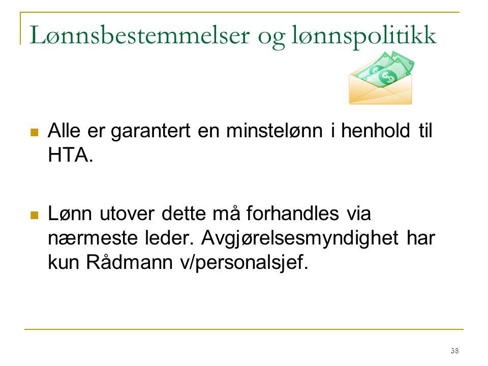 Lønnsbestemmelser og lønnspolitikk