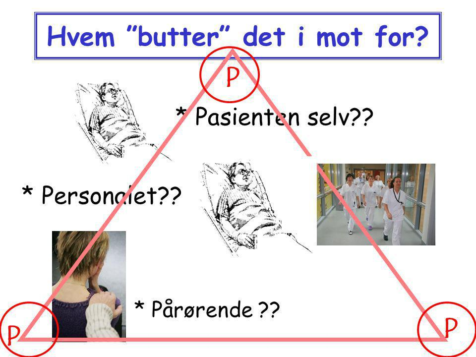 Hvem butter det i mot for