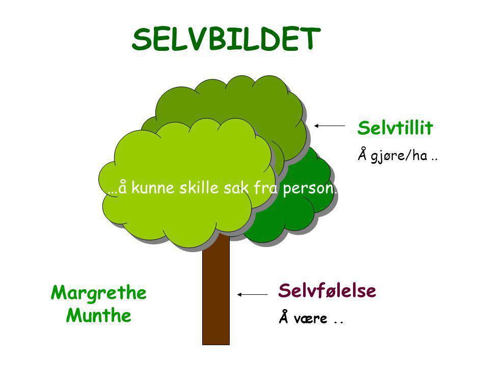 SELVBILDET Selvtillit Selvfølelse Margrethe Munthe