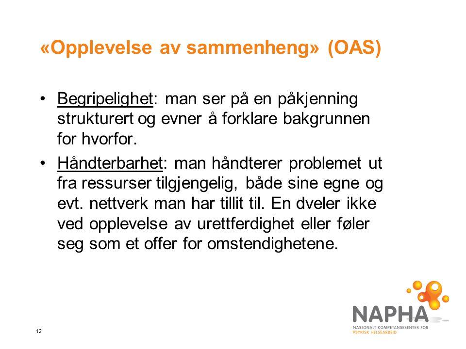«Opplevelse av sammenheng» (OAS)