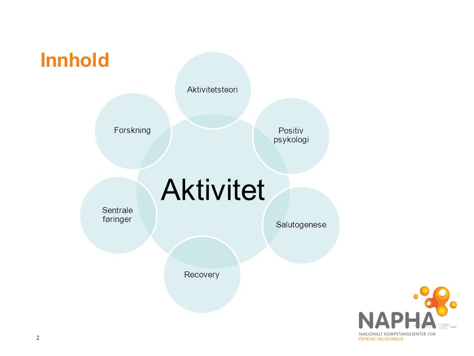 Aktivitet Innhold Aktivitetsteori Forskning Positiv psykologi