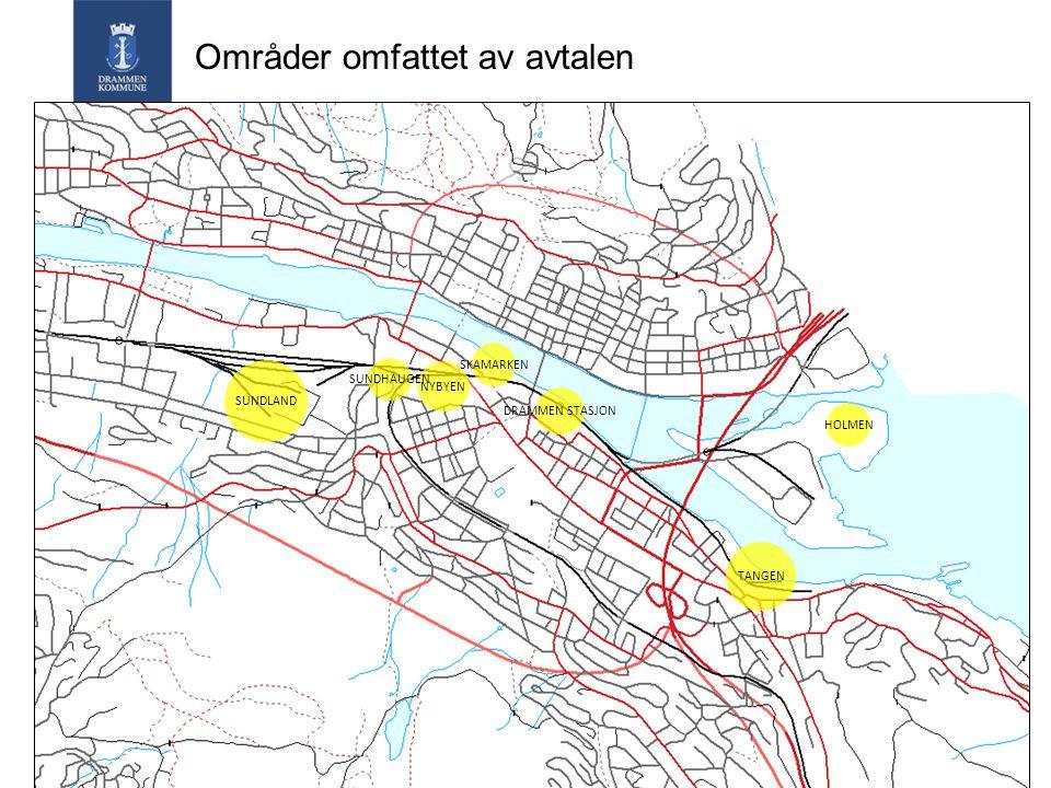 Områder omfattet av avtalen