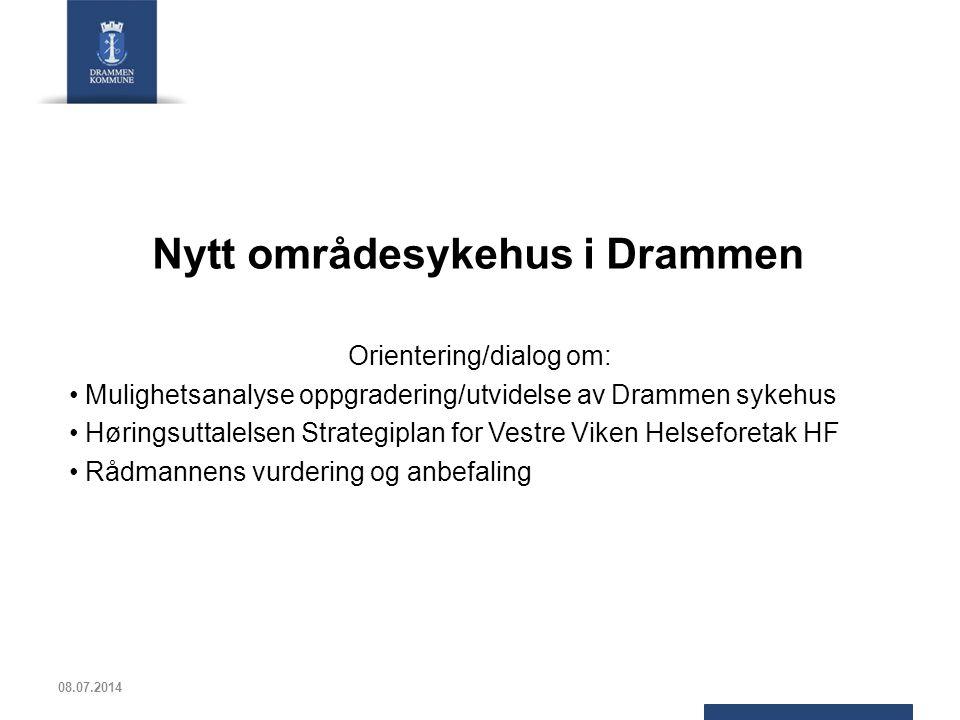Nytt områdesykehus i Drammen