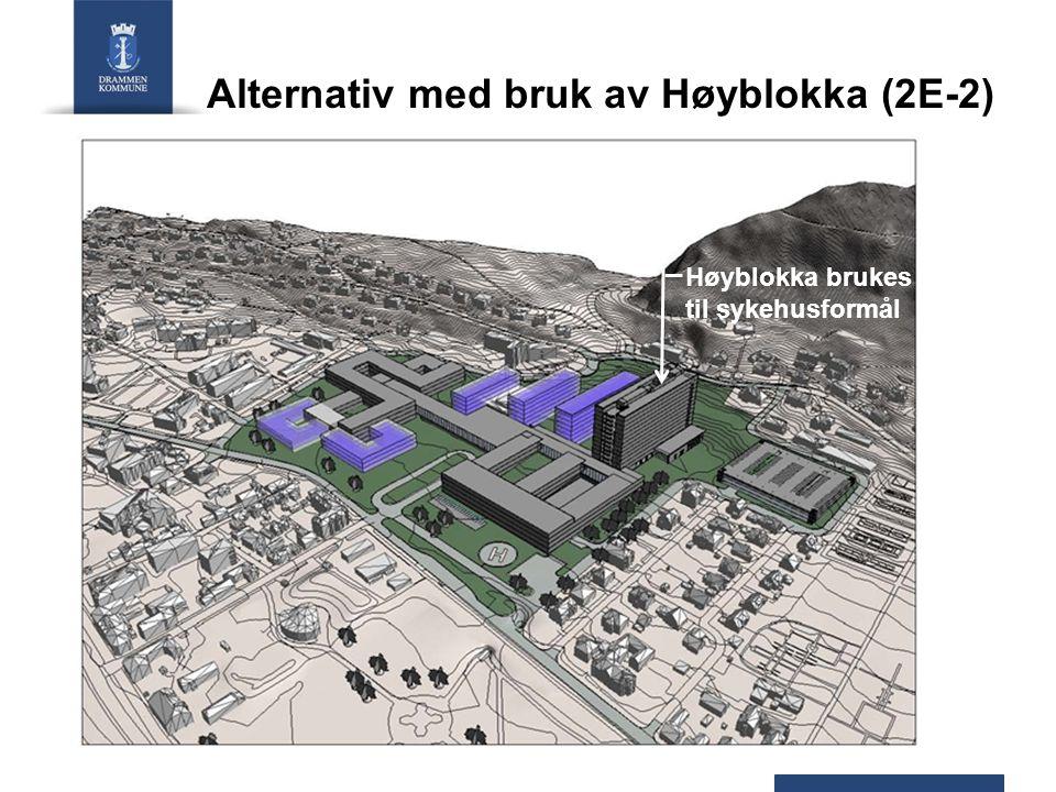 Alternativ med bruk av Høyblokka (2E-2)