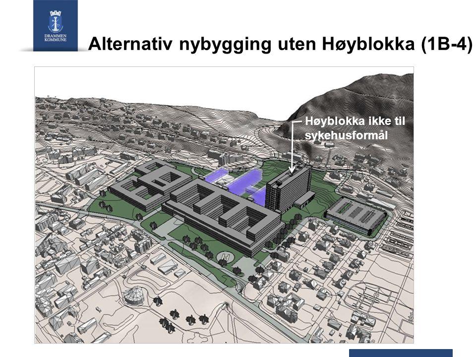 Alternativ nybygging uten Høyblokka (1B-4)