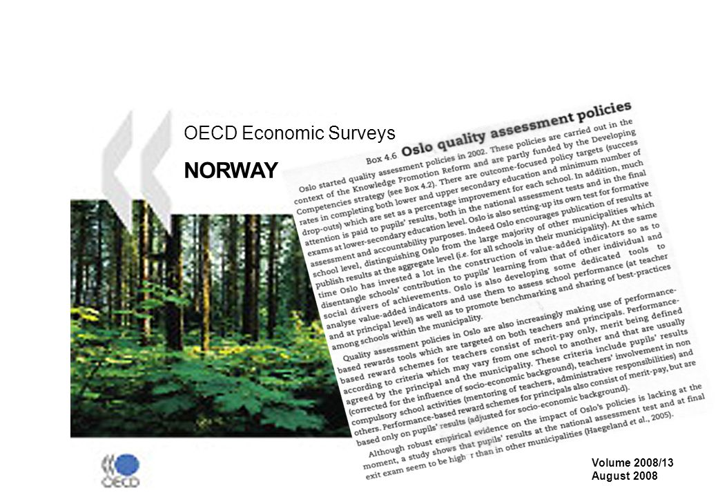 OECD Economic Surveys NORWAY Volume 2008/13 August 2008