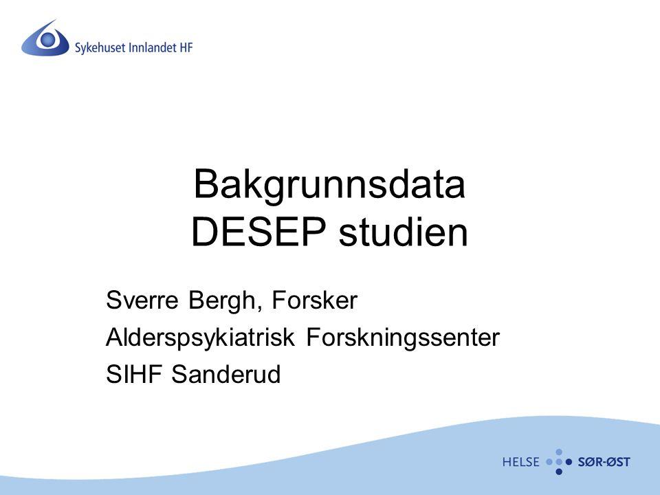 Bakgrunnsdata DESEP studien