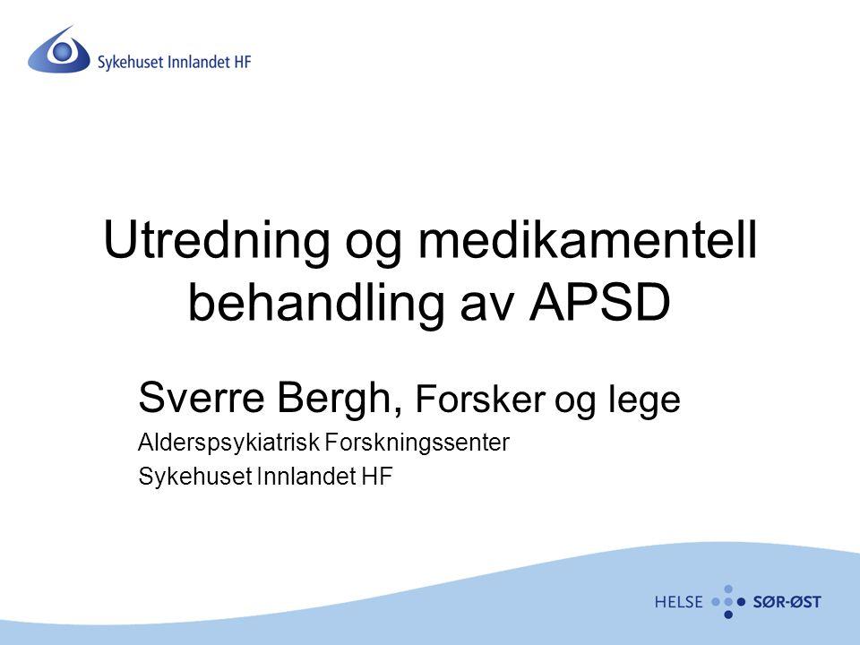 Utredning og medikamentell behandling av APSD