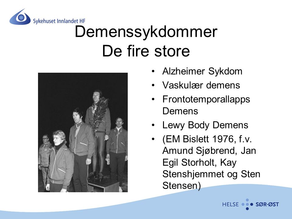Demenssykdommer De fire store
