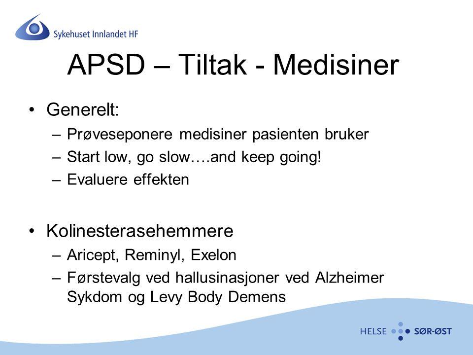 APSD – Tiltak - Medisiner