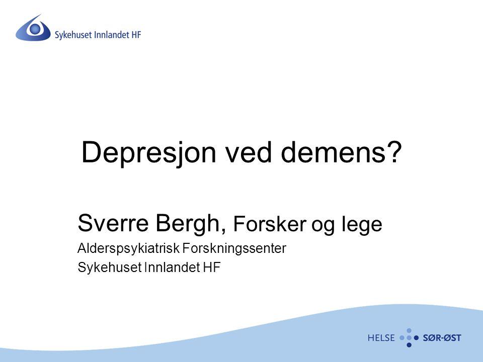 Depresjon ved demens Sverre Bergh, Forsker og lege