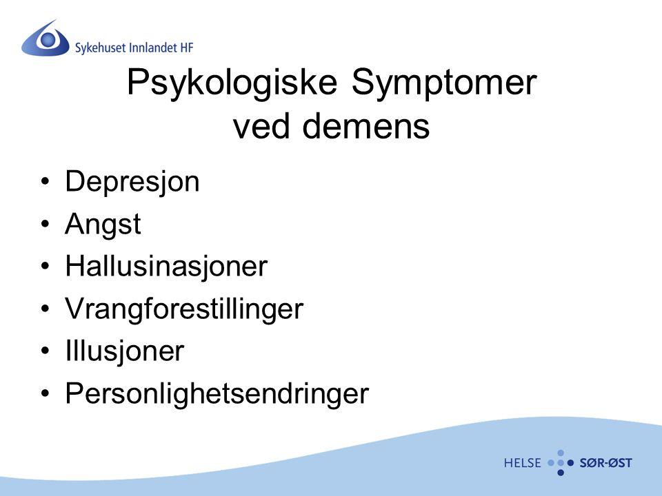 Psykologiske Symptomer ved demens