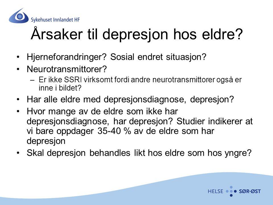 Årsaker til depresjon hos eldre