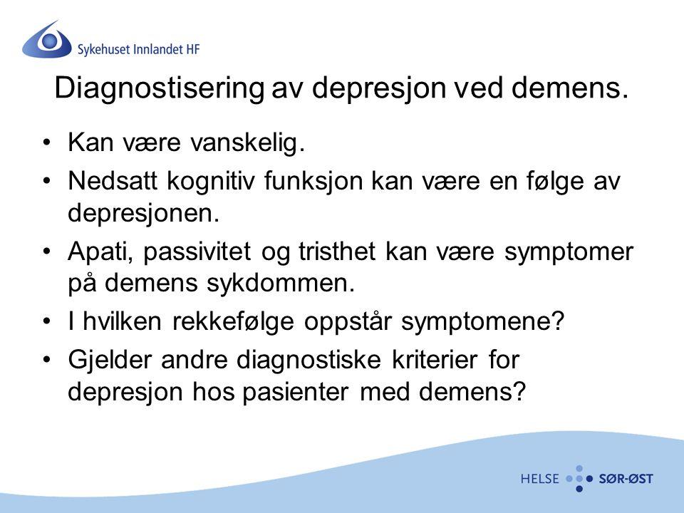 Diagnostisering av depresjon ved demens.