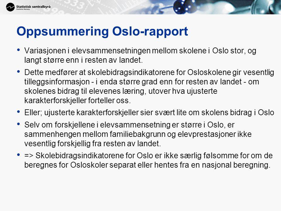 Oppsummering Oslo-rapport