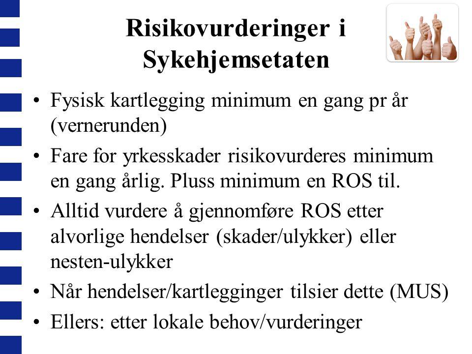 Risikovurderinger i Sykehjemsetaten